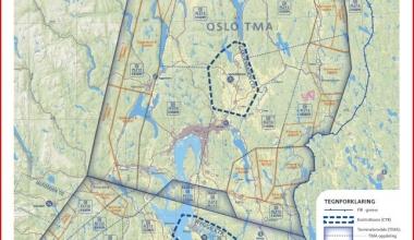Utvidelsen av Oslo TMA i vår lagde endel begrensninger for vår aktivitet!