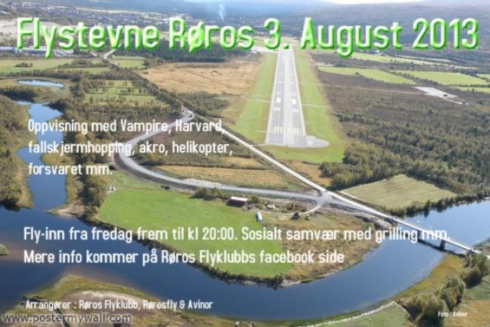 Flystevne Røros 3. august 2013